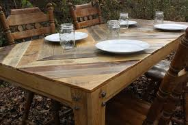 Pallet Wood Patio Furniture - custom gathering table chevron style pallet wood table by little