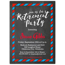retirement invitations classic envelope border chalk retirement invitations paperstyle