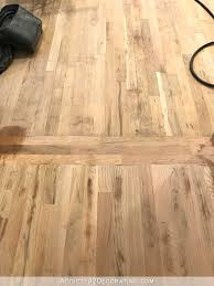 Staining Laminate Floors Refinishing My Hardwood Floors U2013 Sanding Progress