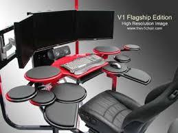 Surround Sound Gaming Chair Futuristic Custom Desk Surround Sound Tech And Gadget
