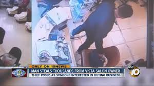 man steals thousands from vista salon owner youtube
