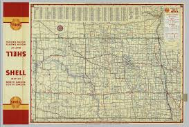 Map Of Sd Shell Highway Map Of North Dakota David Rumsey Historical Map
