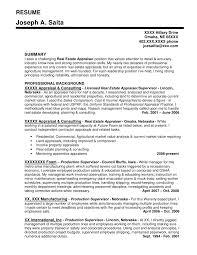 Realtor Resume Sample by Real Estate Appraiser Cover Letter