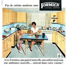 publicité cuisine mobilier vintage en formica le style populaire des ées 1960