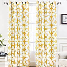 Retro Window Curtains Amazon Com Driftaway Leah Abstract Floral Blossom Ink Painting