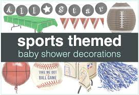 themed pictures sports themed baby shower decorations shower that baby