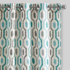 Blackout Curtains Gray Rugs Curtains Gray And Aqua Blackout Geometric Curtains For