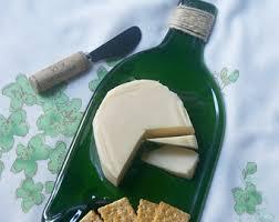 melted wine bottle platter large flat wine bottle cheese tray slumped glass flat