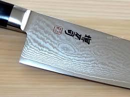 damascus steel kitchen knives sakai tohji 33 layler damascus steel style series santoku