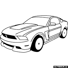 ford boss 302 mustang 1969 coloring