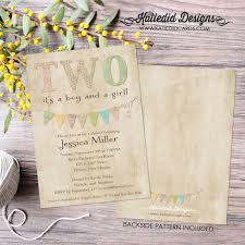 sip and shop invitation twin baby shower invitation two are better than one twins coed sip