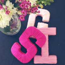 chasing davies diy yarn wrapped letters perfect for shower decor