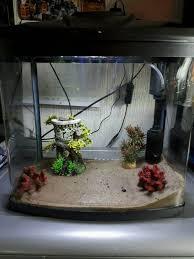 aquarium fish tank aqua one aquazone 28 litre tank with ornaments