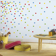 diy confetti dot wall in under 30 minutes roommates blog primary confetti dots wall decals