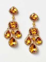 Citrine Chandelier Earrings Multicolor Enamel Chandelier Earrings By Amrapali At