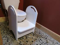 Kids Bathroom Stools Deluxe Wood Potty Step Stool White By Clemswshop On Etsy
