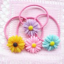 ponytail holder bracelet 50pcs handmade jewelry flower 26mm ponytail holder bracelet