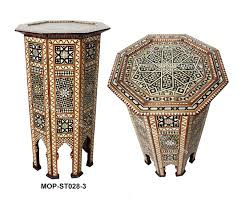 Moroccan Side Table Moroccan Mother Of Pearl Inlay Side Table From Badia Design Inc