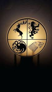 game of thrones light sigil of the blood l game of thrones house night light from