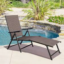 Patio Set With Reclining Chairs Design Ideas Giantex Adjustable Pool Chaise Lounge Chair Recliner Outdoor Patio