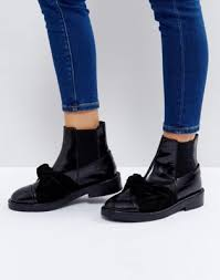 womens boots asos s boots asos angelic leather bow ankle boots 1114673