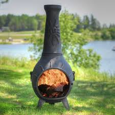 Chimney Style Fire Pit by Chimineas Amazon Com