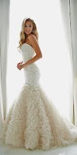 strapless mermaid wedding dress with ruffles elite wedding