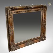 Frameless Molten Wall Mirror by Antique Wall Mirror Victorian Gilt Gesso Frame Later Plate