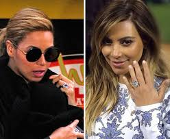 Kim Kardashian Wedding Ring by Kim Kardashian V Beyonce Which Engagement Ring Do You Like