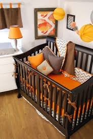 Orange Crib Bedding Grey And White Elephant Nursery Room Theme Nursery Bedding