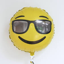 cocktail emoji emoji wink foil balloon 18