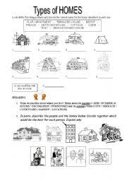 Different Styles Of Homes Worksheet Types Of Homes