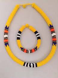 beaded necklace rope images African handmade beaded zulu necklace set jpg