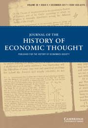 journal of the history of economic thought cambridge