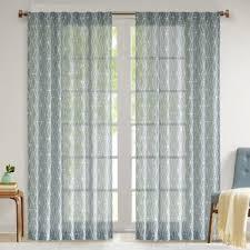 Teal Patterned Curtains Teal Patterned Curtains Wayfair