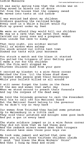Little Houses Song Woody Guthrie Song Ludlow Massacre Lyrics