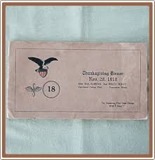 remember thanksgivings past a 1918 army air corp thanksgiving