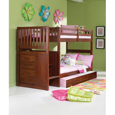 Donco Kids Mission Stair Step Twin Over Twin Bunk Bed With Trundle - Donco bunk beds