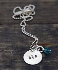 name charm necklace charm necklace