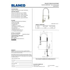blanco 44055 meridian semi professional kitchen faucet homeclick com
