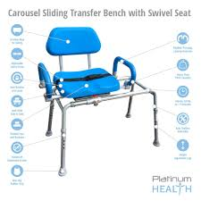 Toilet To Tub Sliding Transfer Bench Platinum Health Carousel Sliding Transfer Bench With Swivel Seat