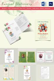 funeral stationery 5 funeral stationery templates word psd format free