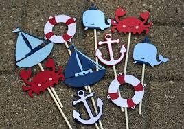nautical cake toppers 12 nautical cupcake toppers crab cupcake toppers nautical