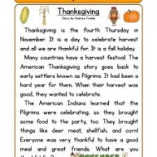thanksgiving story worksheets grade 2 divascuisine