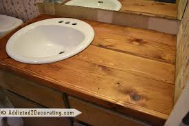 bathroom makeover day 2 my 35 diy wood countertop
