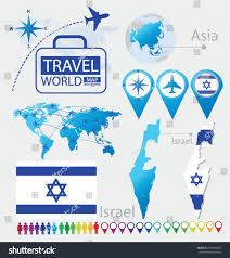 Flags Of The Wor Israel State Israel Flag Asia World Stock Vektorgrafik 155860436