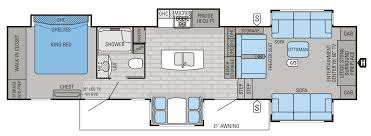 fifth wheel floor plans front living room inspirational home