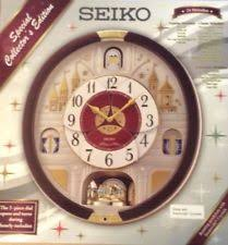seiko qxm565brh special edition in motion clock with 24 melodies