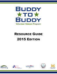 buddy to buddy resource guide 2015 edition by buddy to buddy