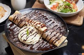 baguette cuisine banana chocolate crepe 1 ร าน la baguette emquartier wongnai